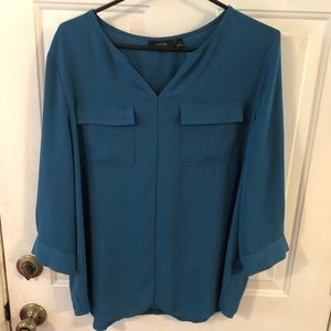 Apt. 9 Teal Blouse. XL